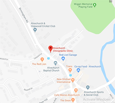 alvechurch chiropractic clinic map